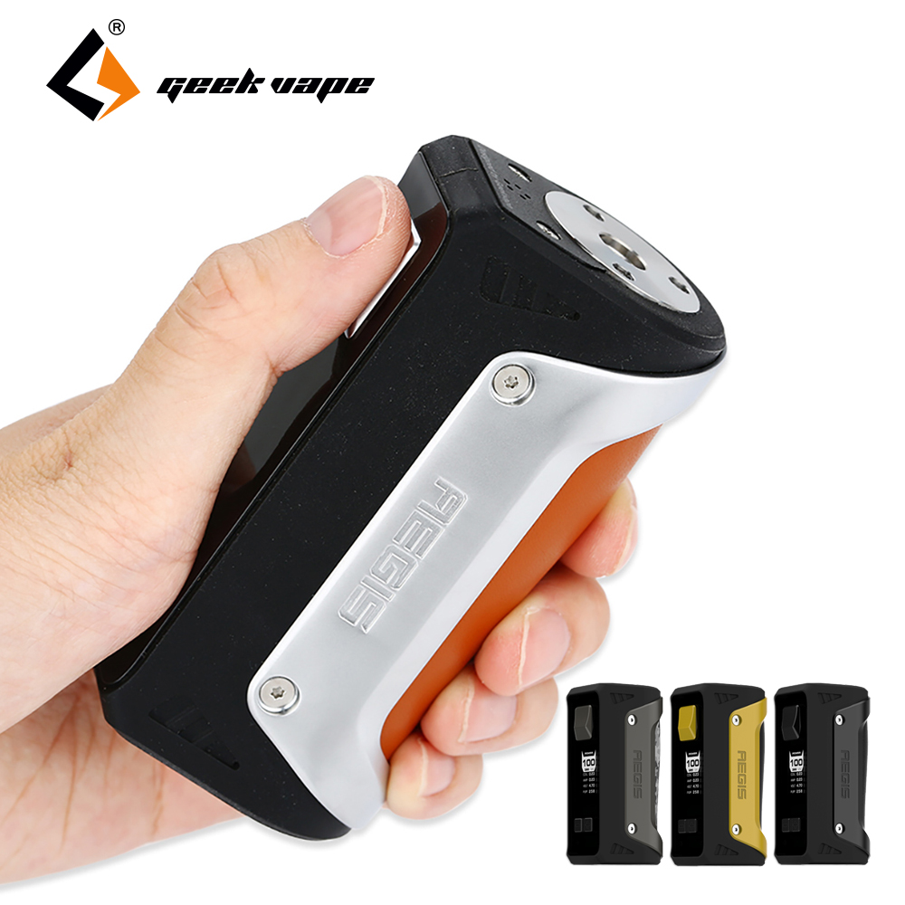 Geekvape AEGIS 100W TC Box Mod with 26650 Battery 4200mah & Advanced Chip Maximum 100W Output Huge Power E-cigarette Box Mod