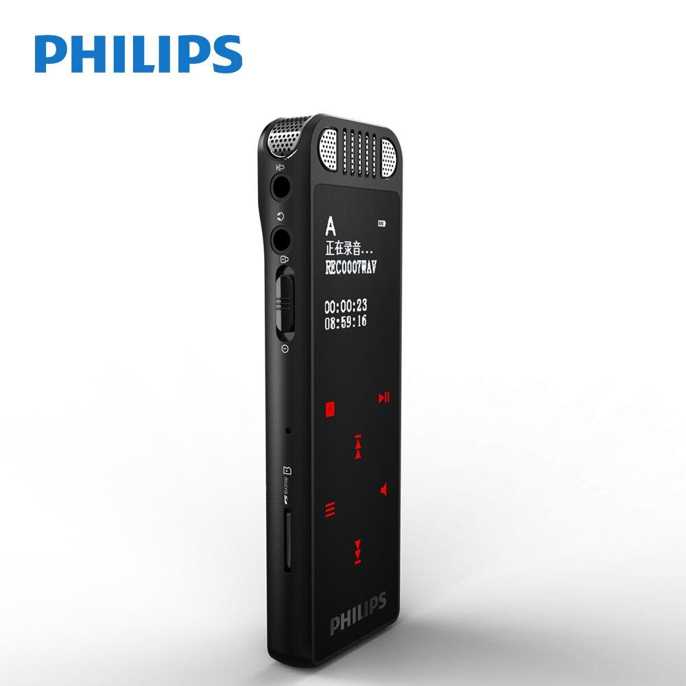 Philips оригинальный VTR8060 64 ГБ Мини Wi-Fi цифровой Аудио Диктофон Tracer ручка Профессиональный голосовой активации Поддержка app