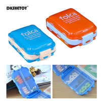 Portable Folding Pill Case Medicine Drug Pills Box Cases Drugs Capsule tablet Container Plastic Empty Drug organizer pillbox