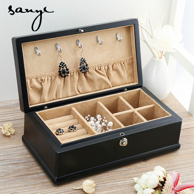 The Export of Wood Ash Matte Paint Wooden Jewelry Box Jade Jewelry