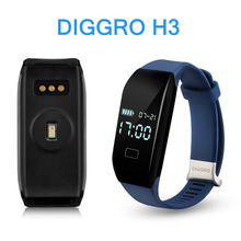 Diggro H3 смарт-браслет Фитнес трекер Браслет Спорт калорий Bluetooth 4.0 сна Мониторы вызова/SMS напоминание для андроид iOS
