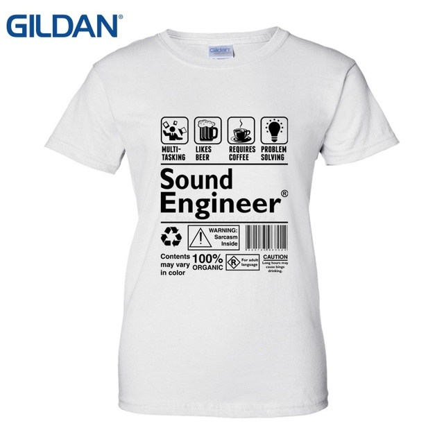 a5ca76168 Work Soft Sound Engineer T-Shirts Funny Clothing Casual Short Sleeve Tshirts  Casual Shirt Womens Tops Cool O Neck T-Shirt