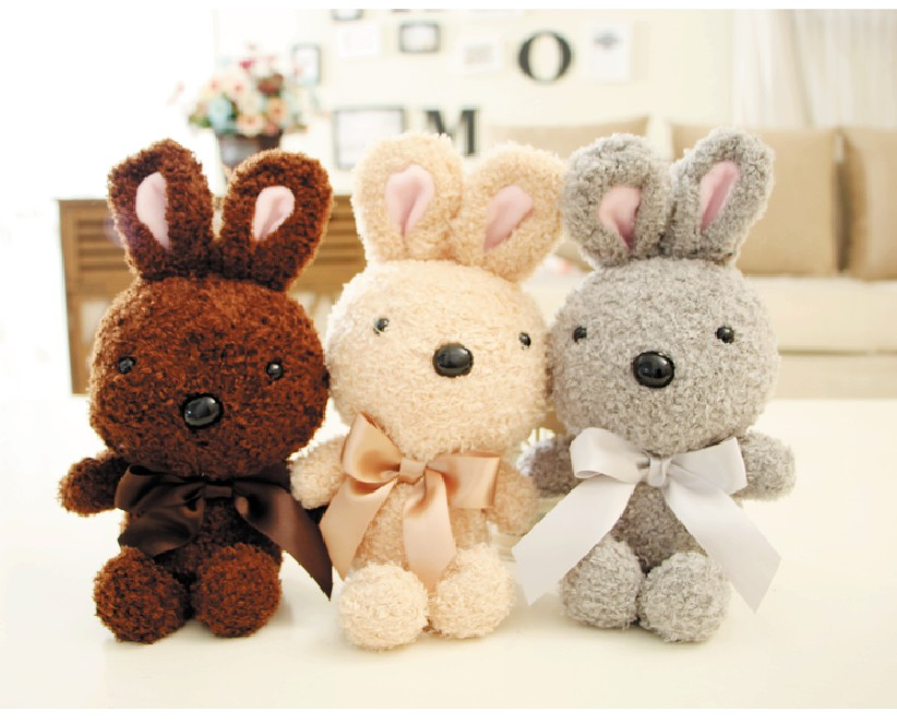 Rabbit With Tie Plush Toy Doll Pillow Staffed Animal New Arrival PPT Cotton Xmas Gift Kid Lovely Gift Free Shipping A-126