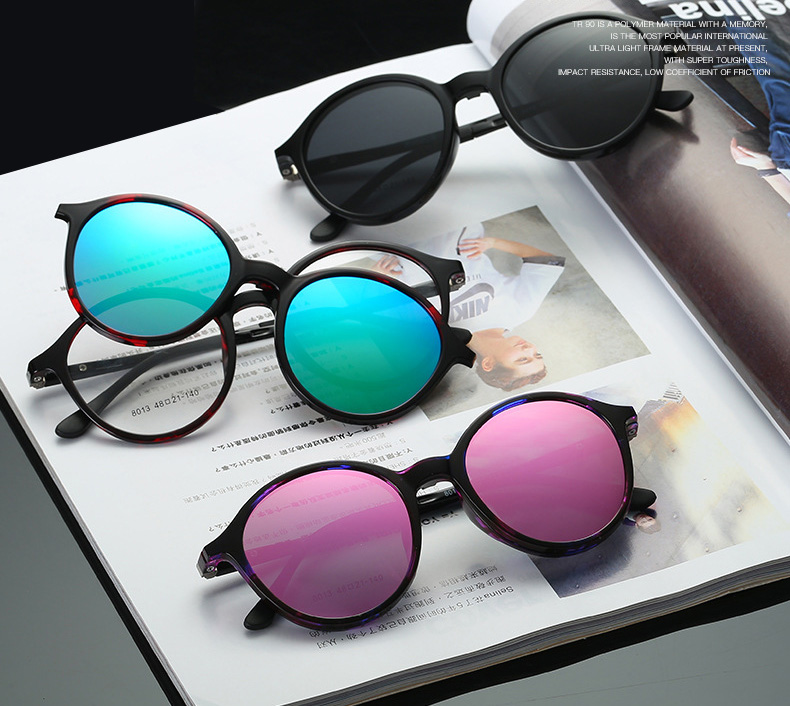 6a9654ff2a Compre TR90 Clip Polarizado Para Mujer En Gafas De Sol Lente ...