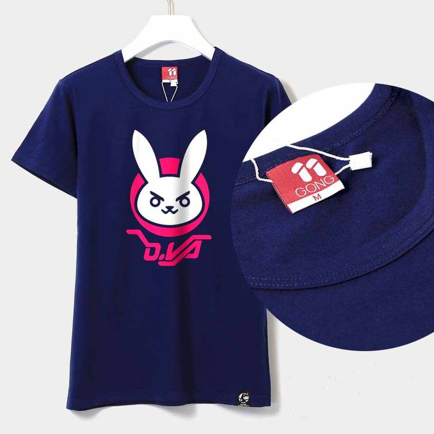 2019 Baru Katun T-shirt Permainan OW D. va Rabbit Cosplay DVA Unisex Lengan Pendek T-shirt T-shirt Anime Atasan Musim Panas Di Saham Gratis Pengiriman