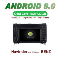 Navirider GPS Android 9.0 bluetooth stereo 4 Core 8 Core car DVD player for BENZ A/B CLASS A W169 B W245 Viano Vito accessories