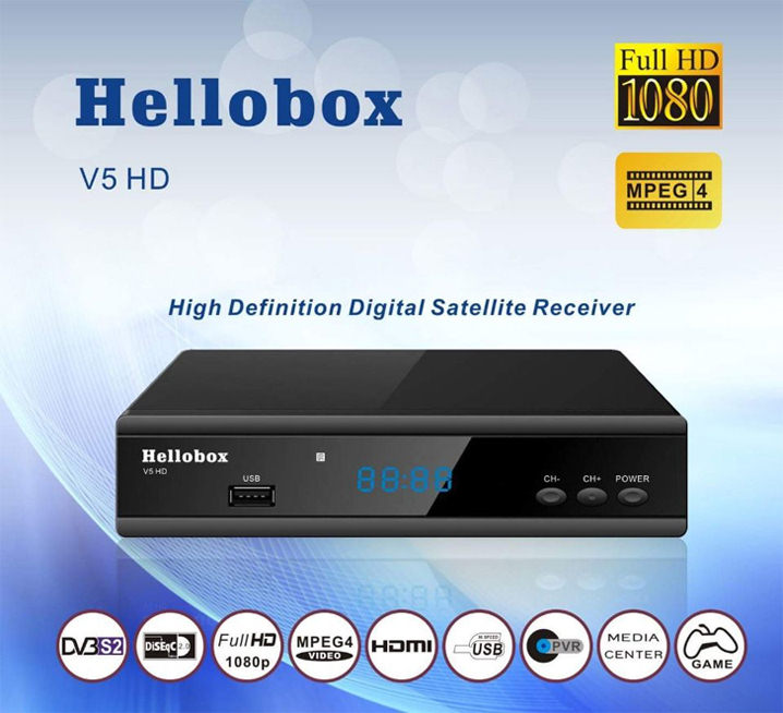 hellobox V5 HD DVB-S2 sport 24  Powervu satellite receiver satellite TV in Middle East/Africa/Europe/Russian/Thailand dhl free ipm psi infosat 3in1 dvb s2 hd satellite receiver for thailand malay burma laos kampuchea