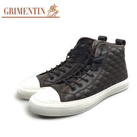 GRIMENTIN Men Boots Casual Fashion Designer Daily Leisure High Quality 100% Genuine Leather Male Shoes E5