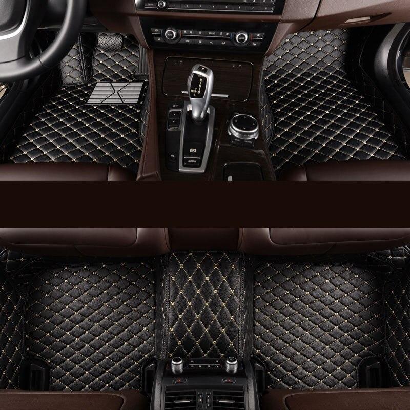 Kalaisike Personalizado esteiras do assoalho do carro para BMW todos os modelos 535 530X3X1X4X5X6 Z4 525 520 f10 f30 e46 e90 e60 e39 e83 e84 carro styling