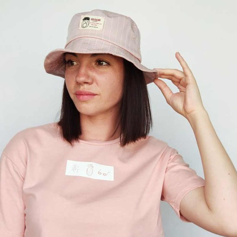 2464f65f3 Detail Feedback Questions about Fashion Bucket Hat Women Cartoon Letter  Bucket Hat Unisex Fisherman Hats Men Women Cotton Street Hip Hop Fishing  Cap ...