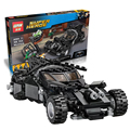 Leweihuan super heroes batman batman building blocks compatible con legoe war chariot diy juguetes educativos para niños regalos