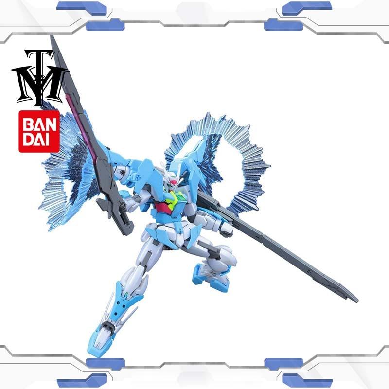 Caliente Japón Bandai 1/144 doble Gundam construir los buzos 00 traje móvil más que cielo fase Robot Gunpla figura de acción juguetes de los niños regalo