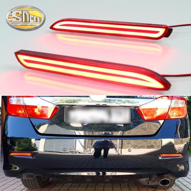 2PCS For Lexus ISF GX470 RX300 SNCN Multi-functions Car LED Tail Light Rear Fog Lamp Bumper Light Auto Brake Light Reflector
