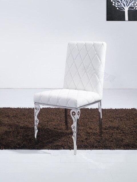 Cuero blanco comedor de acero inoxidable muebles ikea creativa simplicidad elegante restaurante - Sillas de jardin ikea ...