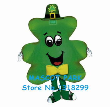 Clover shamrock mascot costume wholesale St. Patrick's Day cartoon shamrock leaves theme cosplay costumes carnivcal fancy dress фото