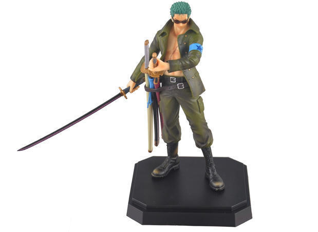 XINDUPLAN One Piece Japanese Anime Roronoa Zoro Onepiece New World Army Clothing Action Figure Toys 22cm PVC Collect Model 0213 japanese anime one piece zoro figurine roronoa zoro pvc action figure model toys 26cm
