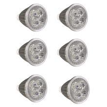 6 шт/лот gu10 Светодиодная Лампочка точечного светильника 5