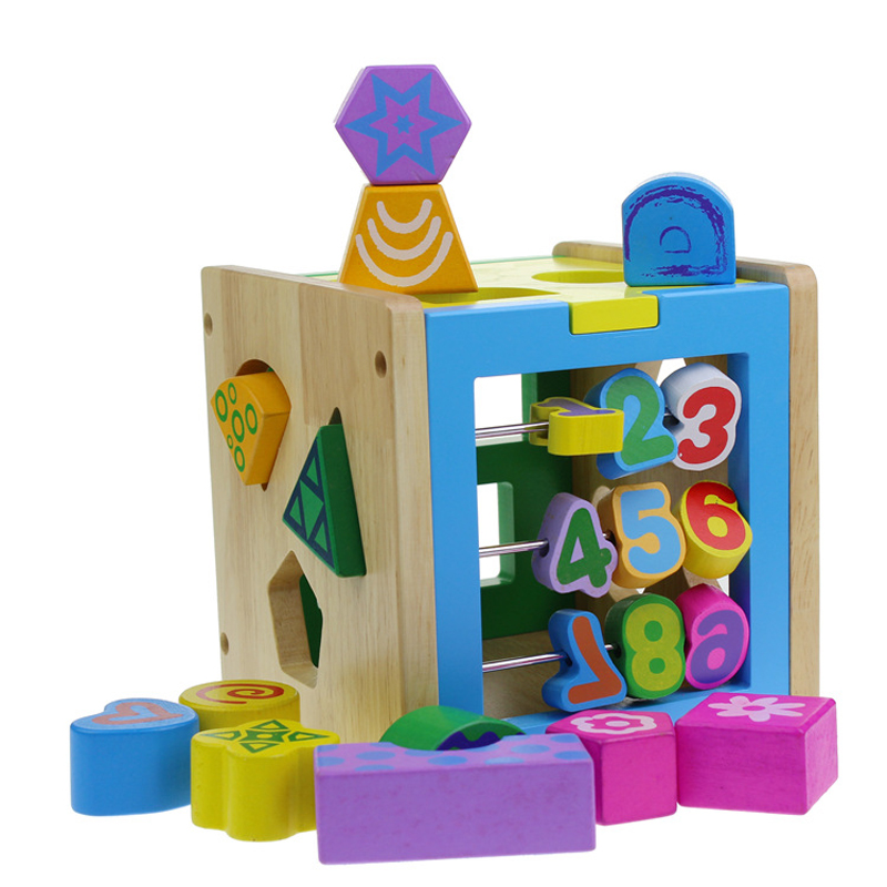 1Piece Color Digital Intelligence Box Toy Baby Early Education Recognize Digital Shape Matching Wooden Children Puzzle Toys puzzle multifunctional piano baby early education music hand drums intelligent piano toys