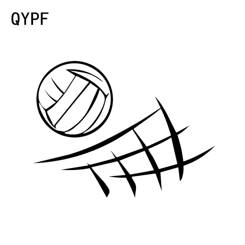 QYPF 13.5*10.2CM Beach Volleyball Decor Car Sticker Silhouette Accessories Vinyl C16-1421