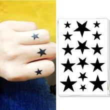 M-theory Temporary Tattoos Body Art, Small Solid Star , Flash Tatoos Sticker 10.5x6cm Swimsuit Dress Makeup
