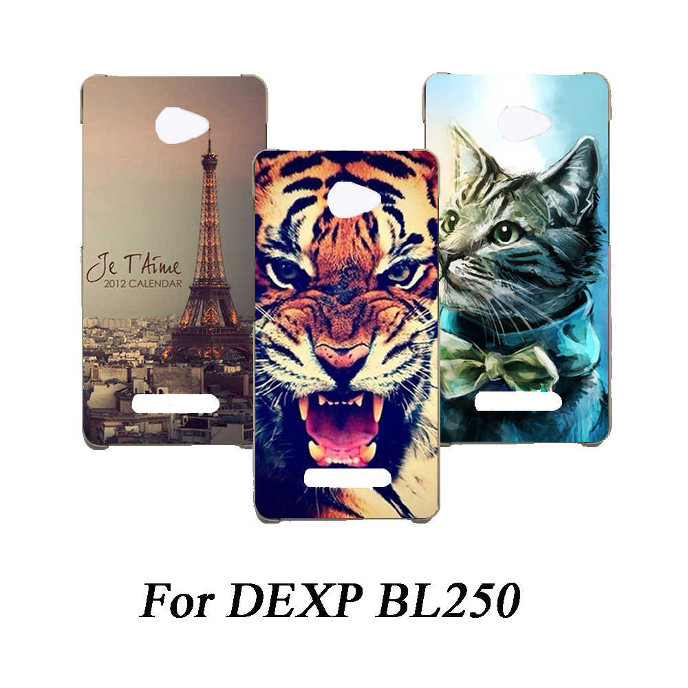 Soft Tpu Phone Case For DEXP BL250 Cases Silicone Painted Wolf Rose Eiffel Fundas Sheer For DEXP BL250 Back Cover