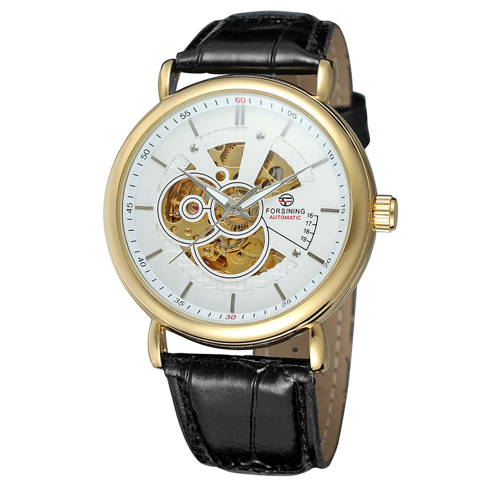 FORSINING Top Luxury Brand Wristwatches New Fashion Watch Men Skeleton Hand-Wind Mechanical Watch Classic Clock Relojes Hombres casual new fashion sewor brand skeleton men male military army clock classic luxury gold mechanical hand wind wrist watch gift