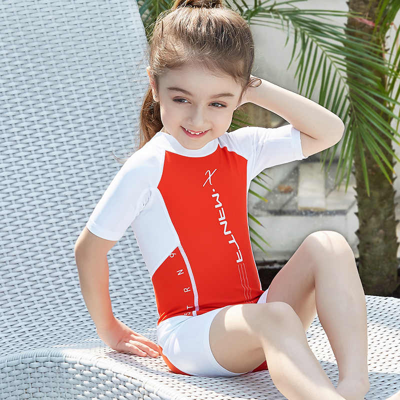 f304b6ad4953a UPF50+ Children Swimwear One Piece Bathing Suit Swimming Wear Boys Girls  Kids Sun-Protection Sport
