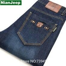 Мужская синий тонкий байкер джинсы Мужской моды джинсовые брюки грузов Джинсы Рваные джинсы Длинные брюки знаменитый бренд джинсы