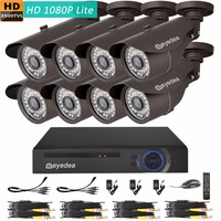 Christmas Eyedea 8 CH L 1080P Phone View DVR 3500TVL CMOS 36 LED Night Vision Outdoor