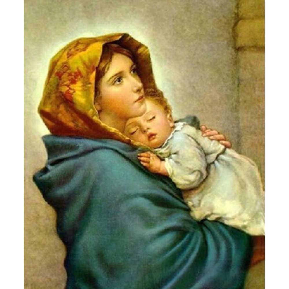 diy 5d diamond painting virgin and child full square mosaic cross stitch  diamond embroidery Religious icons home decor gift|Diamond Painting Cross  Stitch| - AliExpress