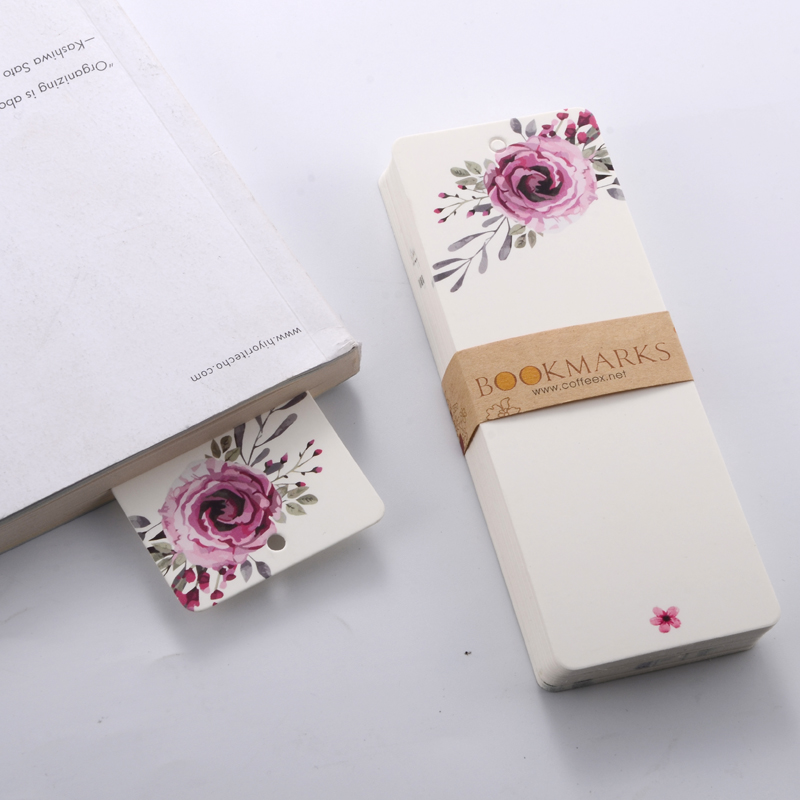 40 Pcs/pack Novelty Elegant Patterns Bookmark Blank Paper DIY Bookmarks Reading Book Mark Gift School Stationery