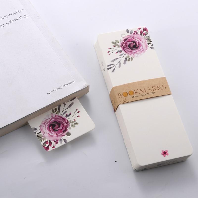 40 Pcs/pack Novelty Elegant Patterns Bookmark Blank Paper DIY Bookmarks Reading Book Mark Gift School Stationery