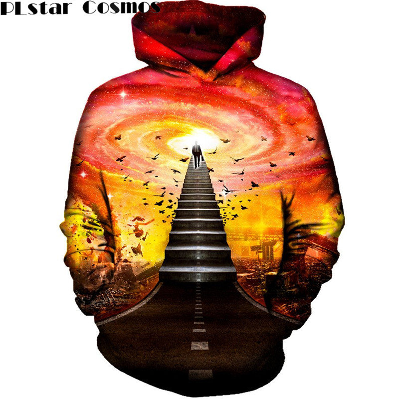 PLstar Cosmos Men Hoodies Funny Hip Hop Hooded Sweat Shirt Brand plus Size 5XL 3D Printed Galaxy Tracksuit Autumn Pullovers