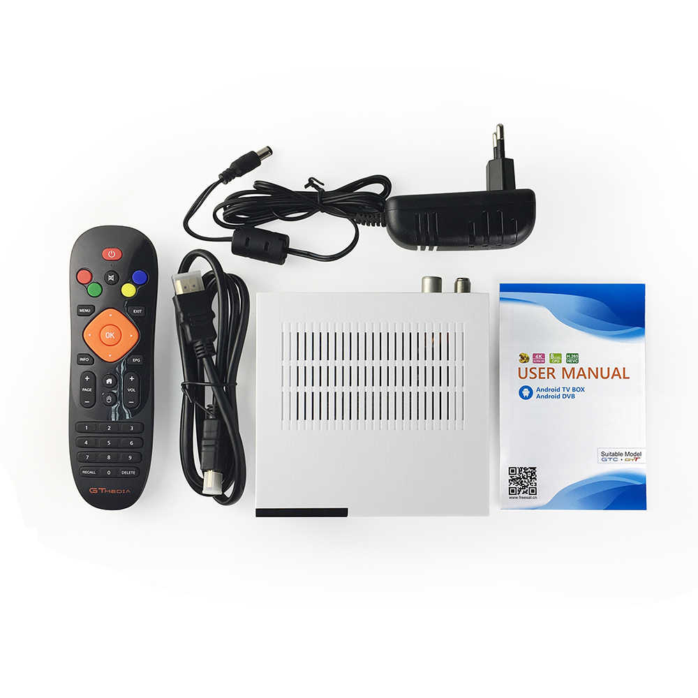 FREESAT gtmedia GTC Android 6.0 TV BOX DVB-S2/T2/câble/ISDBT Amlogic S905D 2GB RAM 16GB ROM gratuit + 1 an CCcam fr