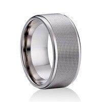 8mm Kobiety Mężczyźni Czystego Tytanu Pierścień Rocznica Multi Przeciw Alergii fajne Finger Biżuteria Comfort Fit Wedding Band Rozmiar 5 do 8.5