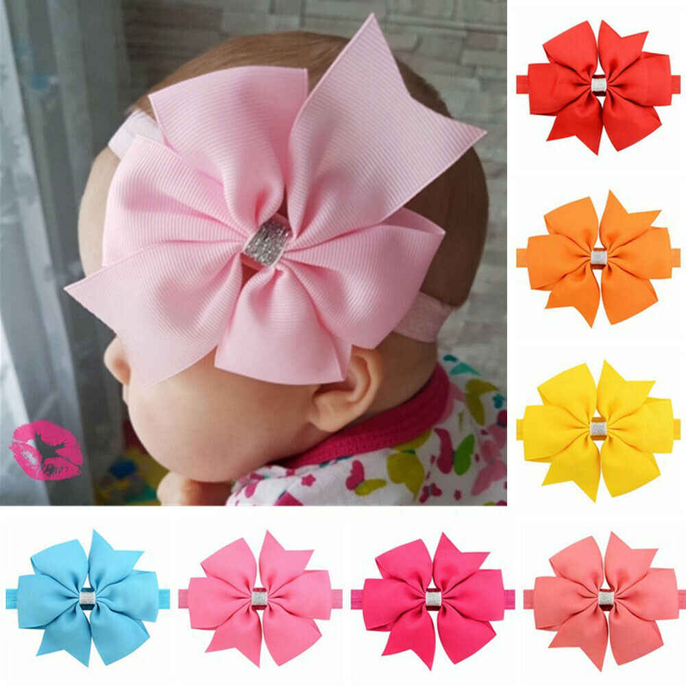 2019 子供のアクセサリーかわいい女の赤ちゃんヘアー弓子供のためのヘアバンドヘアクリップビッグちょうスパンコール帽子卸売ギフト
