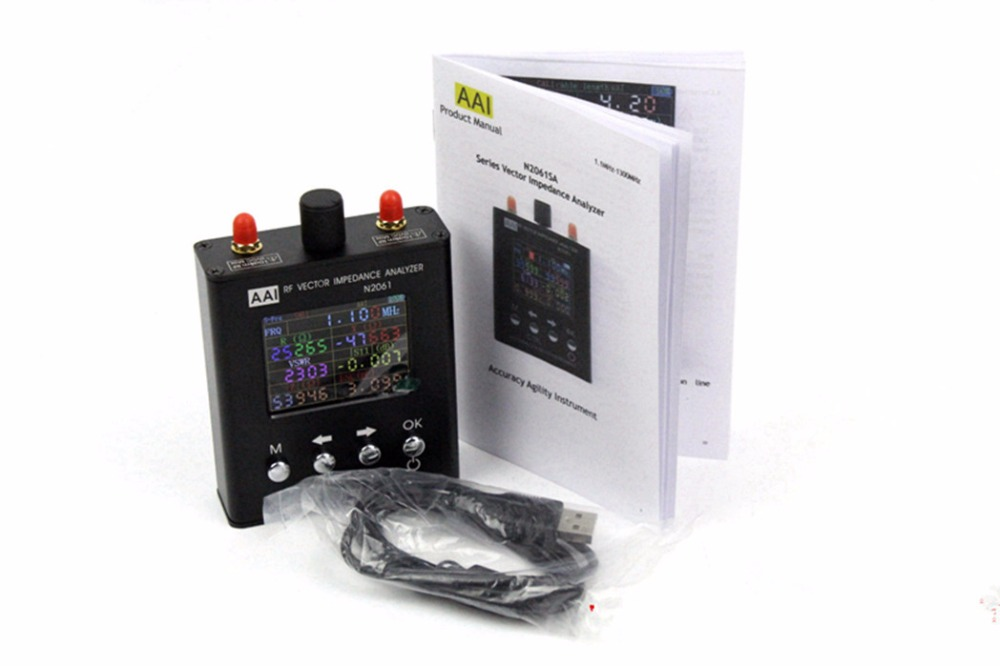 2018 Nova verison Inglês N2061SA UV Vetor Impedância Analisador de Antena RFID 1.1 MHz-1.3 GHz (Atualizado para N1201SA Analisador de antena)