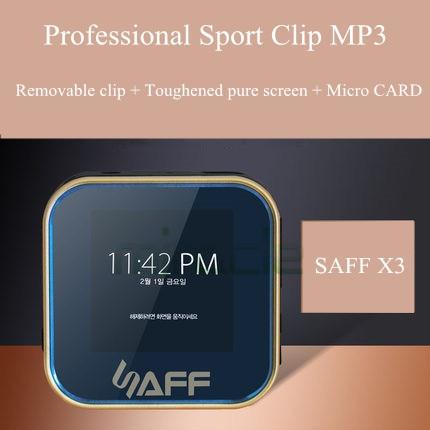 Saff X3 Mini Esporte clipe Mp3 Player Tela de Toque de Alta Qualidade Mp3 Player de Música Com 90DB CD de áudio lossless hifi FM Built-in8GB