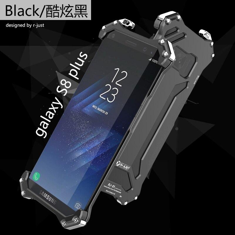Цена за R-JUST Gundam Серии Metal Бампер телефон случае для Samsung Galaxy S7 S8 S8 плюс S7 Край Люкс Броня Doom антидетонационных бампер
