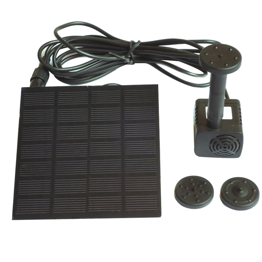 solar panel powered mini brunnen wasserpumpe garten pool teich