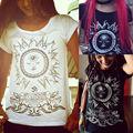 European Style Summer T shirt Women 2016 Eye Sunshine 3D Print T-shirt Fashion Graphic Tees Women Designer Clothing