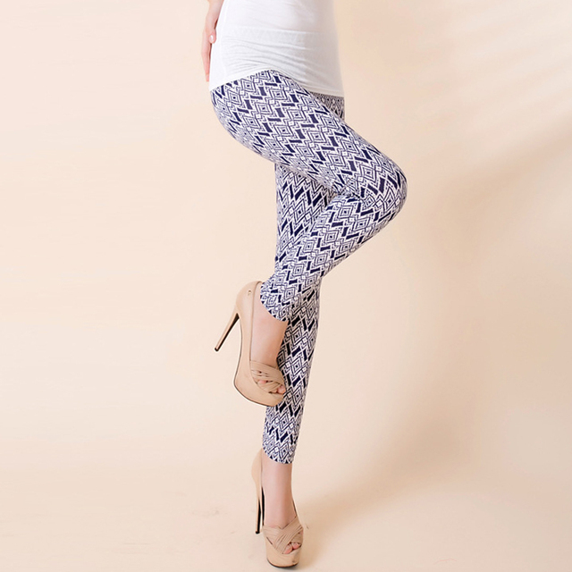 Women Elastic Black Milk Pant Printed Leggings For Women Slim Casual Leggings