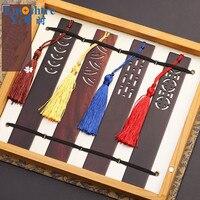 סיני קלאסי עץ קופסא מתנת אביזרי Diy עיצוב וינטג 'לנכש סימניות מתנות לגבר M036