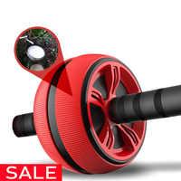 Große Stille TPR Bauch Rad Roller Trainer Fitness Ausrüstung Gym Startseite Übung Körper Gebäude Ab roller