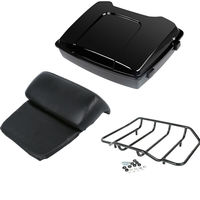 Motorcycle Moto Razor Pack Trunk Top Rack Backrest For Harley Tour Pak Touring Road King Street Electra Glide 97 13