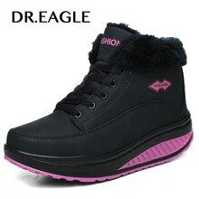 DR. EAGLE/зимняя спортивная обувь с высоким голенищем; женская обувь на платформе; кожаная обувь для похудения; женская спортивная обувь для фитнеса