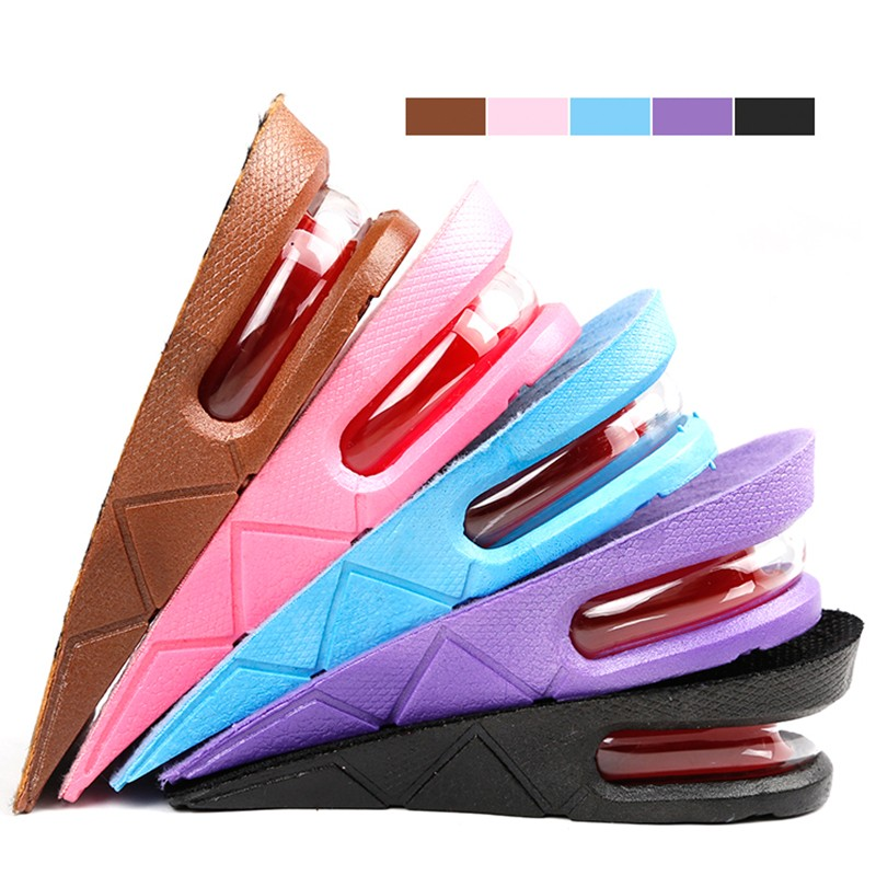 Sports Advanced Airbag Heightening Shock Absorber Insole With Two Layers Of Adjustable Height 5cm Boots Special Air Cushion