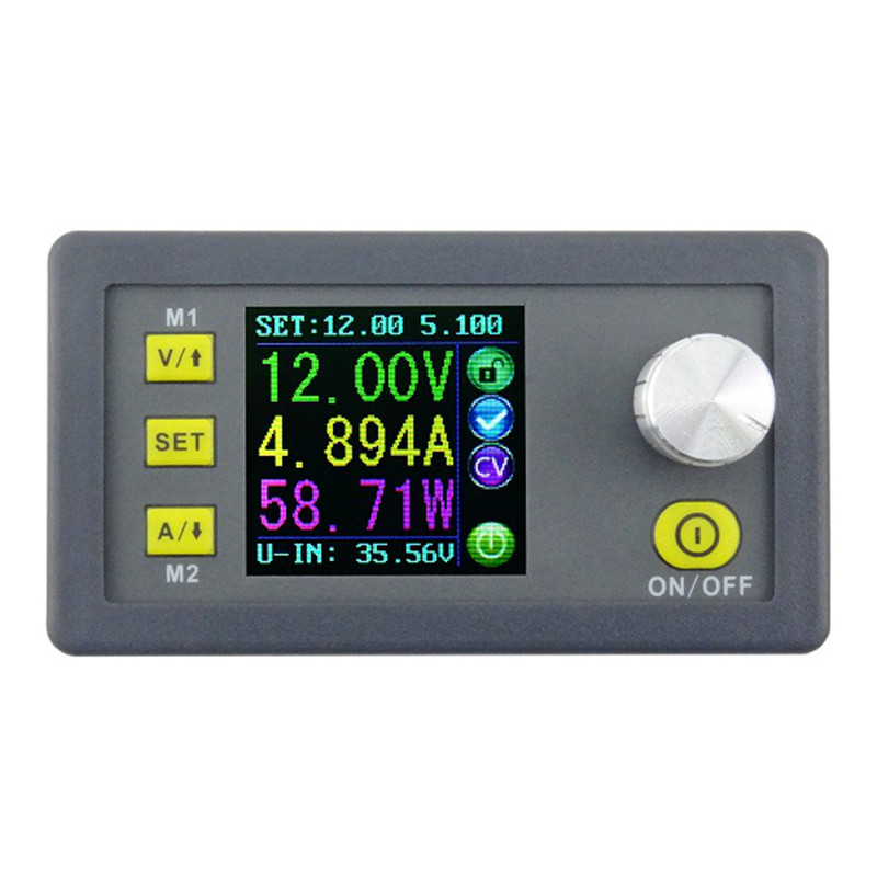 1pcs DPS3005 Constant Current Voltage Step-down Programmable Power Supply module buck Voltage converter color LCD voltmeter