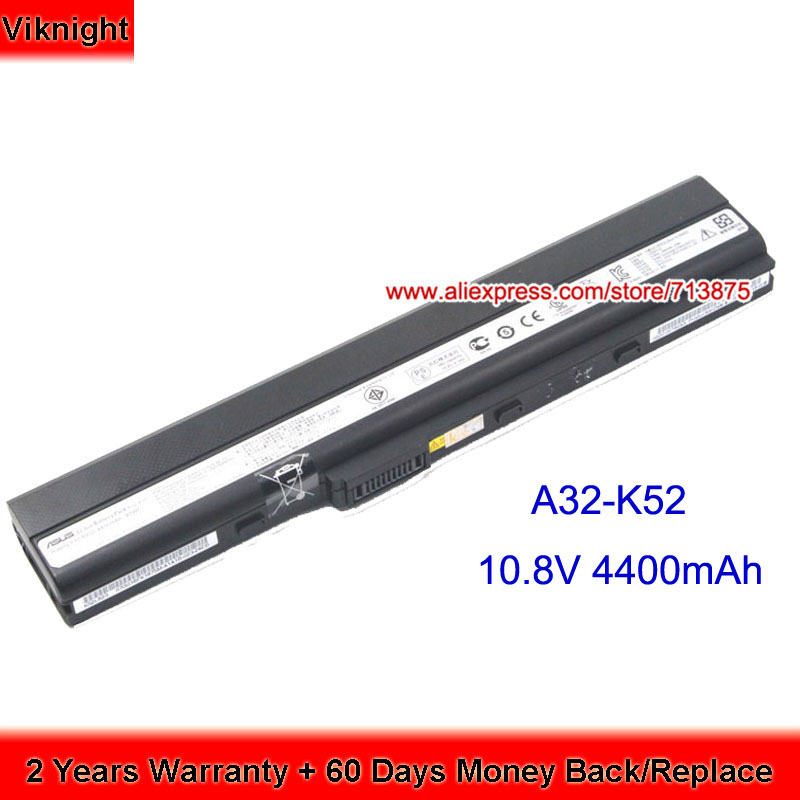 Original K52F Battery For ASUS A52 A52F A52JB K52DR K52JC K52JE A32-K52 A41-K52 new 7800mah laptop battery for asus a52 a52f a52j k52d k52dr k52f k52j k52jc k52je k52n x52j a32 k52 a42 k52