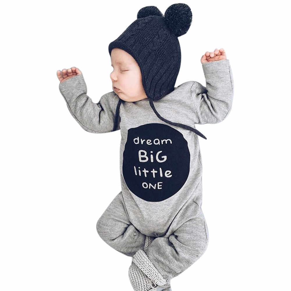Infant Baby Girl Boy Clothes Rompers Long Sleeve Cute Jumpsuit Outfits  Girls Clothes Jumpsuit Clothes Outfits Letter 827